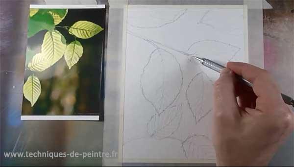dessiner-les-feuilles-d'arbres-techniques-de-peintre