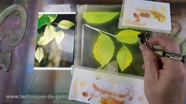 05-peindre la texture des feuilles d'arbre-techniques-de-peintre