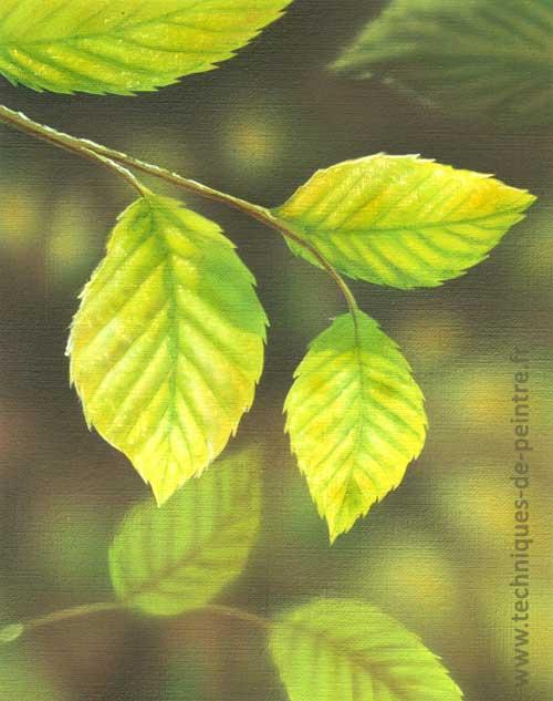 Comment peindre une feuille d arbre l a rographe - Quelle couleur pour donner de la profondeur a une piece ...