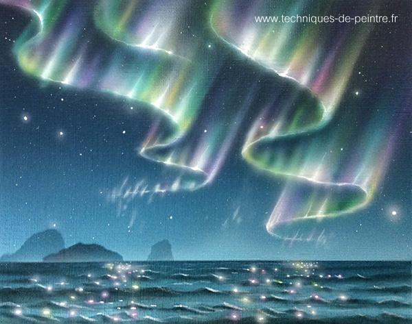 tableau-aurores-boreales-techniques-de-peintre